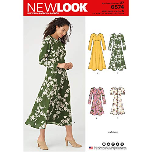 NEW LOOK Sewing Pattern 6574 - Misses' Dresses, A (6-8-10-12-14-16-18)
