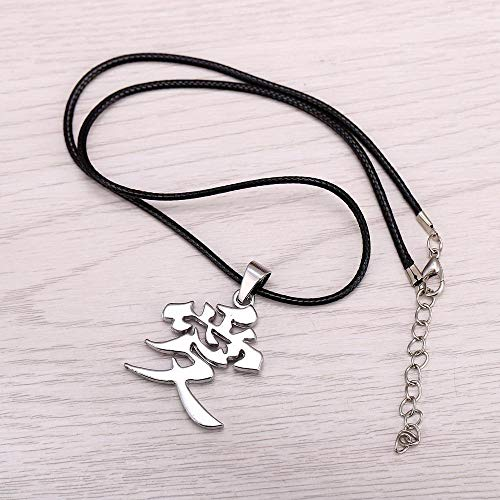 Value-Smart-Toys - 12pcs/lot Anime Naruto Metal Necklace Gaara Gourd Love Logo Pendant Cosplay Accessories Jewelry favorite gifts