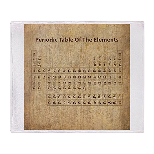 CafePress Vintage Periodic Table Soft Fleece Throw Blanket, 50