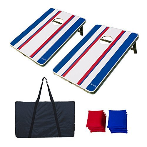 AceLife Cornhole Bean Bag Toss Game Set Aluminum Frame with 8 Bean Bags and Carrying Case, Tailgate Size (3ft x 2ft)