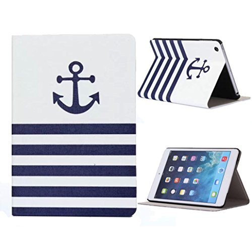 Ikevan case for iPad Mini 1 2 3 Retina - New Premium Flip Stand Leather Case Cover For (Striped Ipad Mini Case)