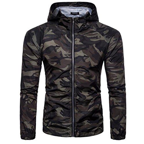 Vanvler ♥ Men Camouflage Jacket, MaleSummer T-shirt Rash Guard Thin Blouse Pullover (L, - 120's Suit 3 Wool Button