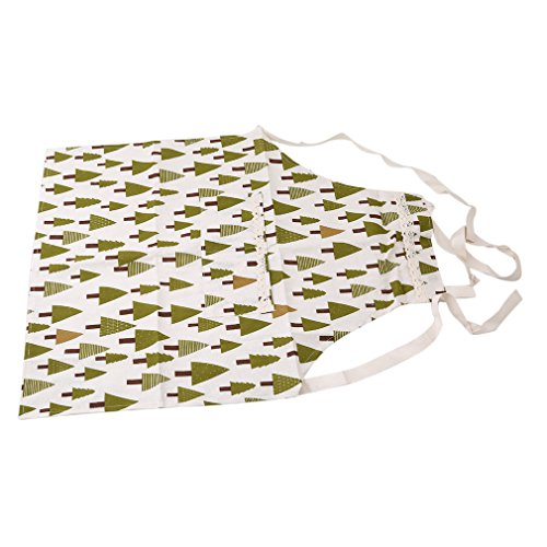 GUAngqi Cotton Aprons Cooking Apron Kit Bib Ocean Style Stripe Tree Homework Kitchen Sleeveless Aprons For Women And Men,Triangle tree - Apron Panel