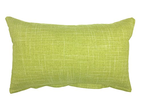 YOUR SMILE Solid Color Oblong Rectangle Decorative Cotton Linen Throw Pillow Case Cushion Cover Lumbar Pillowcase for Couch Sofa Bed,12 x 20 Inches,Green (Green Lumbar Pillow)