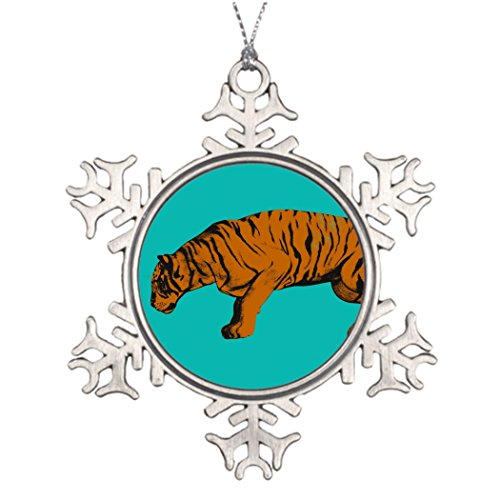 Butter Tisse Personalized Family Christmas Snowflake Ornaments Cat Versus Tiger Ready to Fight or Take On Christmas Tree Decor (Christmas Cat Tree Versus)