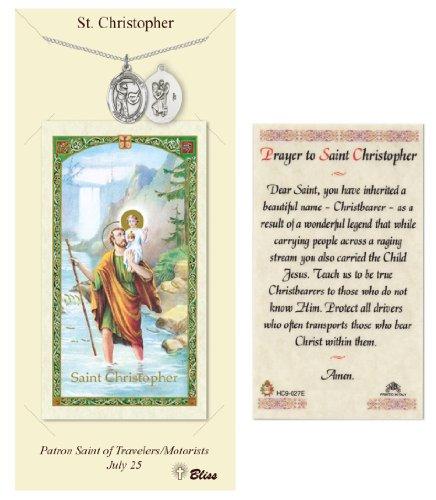 St. Christopher Prayer Card & Medal for Golf Players