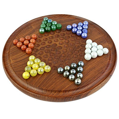 ShalinIndia Game Chinese Checkers with Marbles Handcrafted Wooden Toys from India by ShalinIndia