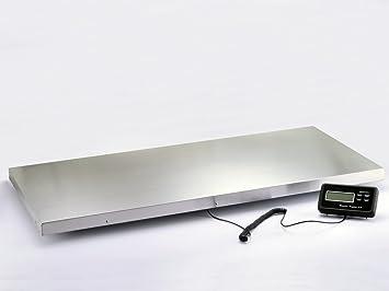 Balanza de plataforma 300 kg, grandes 113 cm x 53 cm Acero Inoxidable Plataforma. Balanza de paquetes, mesa - Báscula, Veterinario de, animales.