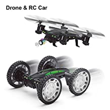 Drones with HD Camera, Remote Control Car Toys for Kids, Rolytoy Live Video Wifi Quadcopter RC Truck 360°Flip Headless Mode
