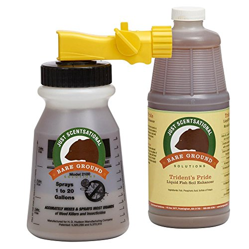 Just Scentsational Ready to Use Tridents Pride Liquid Fish Fertilizer with Hose End Mixing Sprayer