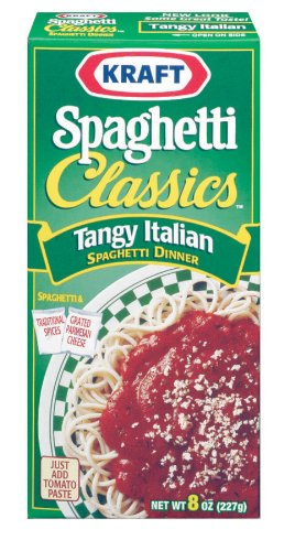 Kraft Spaghetti Classics, Tangy Italian, 8 oz (Pack of 12)