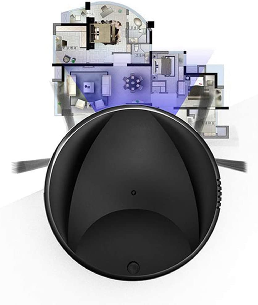WFFH Nettoyeur Multifonction Intelligent étage, 3-in-1 Auto Rechargeable Intelligent Robot Balayer, Aspirateur à Sec Balayage Humide,Noir White