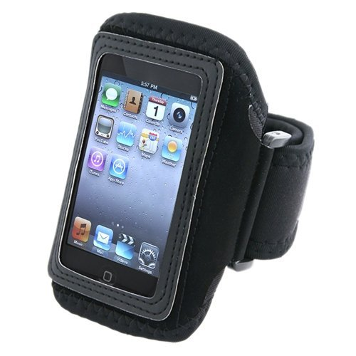 Importer520 Adjustable Deluxe ArmBand Sportband Case Compatible With Apple® iPod touch® / iPod touch® 2nd Generation, Black