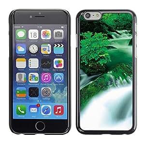 TopCaseStore / la caja del caucho duro de la cubierta de protección de la piel - Waterfall Black & White Sunset - Apple iPhone 6 Plus 5.5
