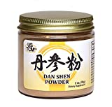 Dan Shen Powder Salvia Miltiorrhiza Powder Red Sage Root Powder 丹参粉 120mesh (2oz)