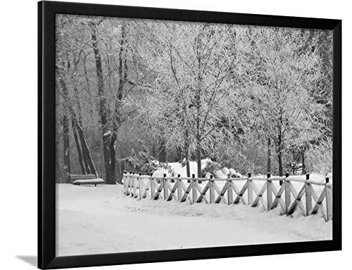 ArtEdge Winnipeg Manitoba, Canada Winter Scenes Keith Levit, Black Framed Wall Art Print, 24x32 in (Manitoba Winter Canada Winnipeg Scenes)