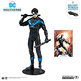 McFarlane Toys DC Multiverse Nightwing: Better Than Batman Action Figure with Build-A Rebirth Batmobile (Piece 2)