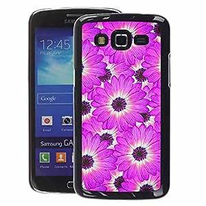 A-type Arte & diseño plástico duro Fundas Cover Cubre Hard Case Cover para Samsung Galaxy Grand 2 (Flower White Pattern Pink)