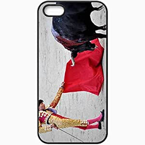 Personalized iPhone 5 5S Cell phone Case/Cover Skin Bullfighter Bull Spain Black