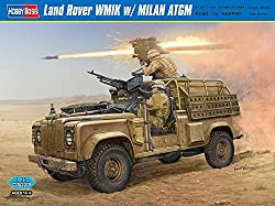Hobby Boss Land Rover WMIK with Milan ATGM Vehicle Model Building Kit by MMD Holdings, LLC