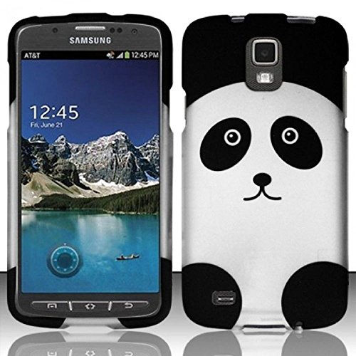 Galaxy S4 Active Case, Balaji Panda Rubberized Hard Snap-in Case Cover For Samsung Galaxy S4 Active GT-I9295, ()