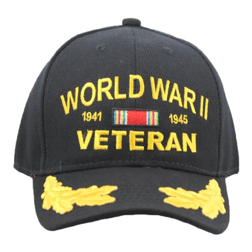WWII Veteran Hat With Scrambled Eggs For Men and Women, Military Collectibles ()