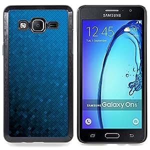 """Qstar Arte & diseño plástico duro Fundas Cover Cubre Hard Case Cover para Samsung Galaxy On5 O5 (Azul Wallpaper Random color del gradiente"""")"""