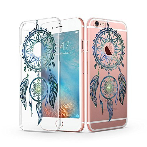 iPhone 6s Case, iPhone 6 Clear Case, MOSNOVO Henna Totem Mandala Greenish Dream Catcher Design Transparent Clear Plastic Slim Ultra Thin Case Cover for Apple iPhone 6 4.7 Inch
