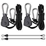 Roleadro Heavy Duty Adjustable Nylon Rope Ratchet Pair of 1/8 Inch Rope Clip Hanger, 150lb Capacity Review