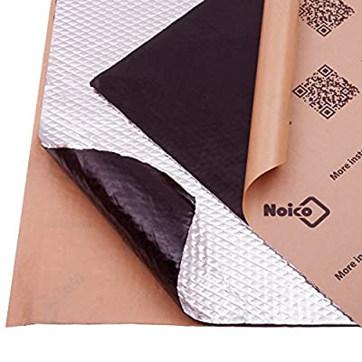 Noico 80 mil 10 sqft car Sound deadening mat, butyl automotive Sound Deadener, audio Noise Insulation and dampening from Noico