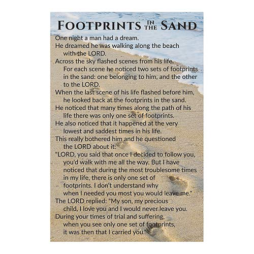 US Gifts Pass it On Cards: Footprints (Pack of 25) ()