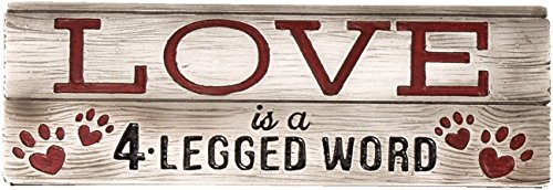 Spoontiques Love is a 4 Legged Word Desk Sign