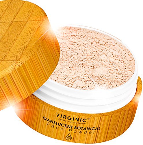 Mineral Face Powder Translucent Loose Matte Setting Foundation Makeup Natural Great Nice Smell For Women Oily Dry Skin Perfect Finish Works All Day Above Organic Vegan Make Up Compact Neutral Oil Free (Mineral Face Powder)