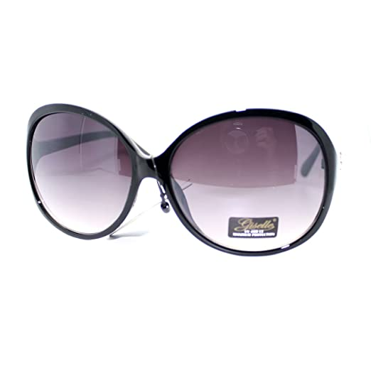 385af8e6720 Giselle Womens Stripe Pattern Oversize Round Butterfly Sunglasses Black