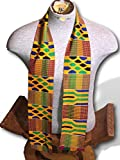 Traditional Authentic Triple Woven Kente Scarf and Stole Made from Ghana