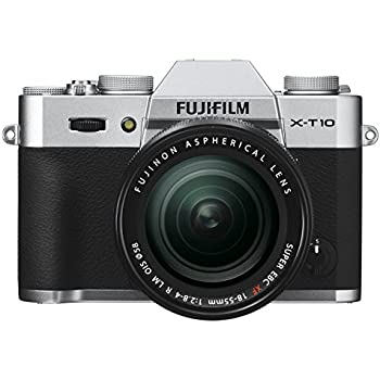 Fujifilm X-T10 Silver Mirrorless Digital Camera Kit with XF18-55mm F2.8-4.0 R LM OIS Lens