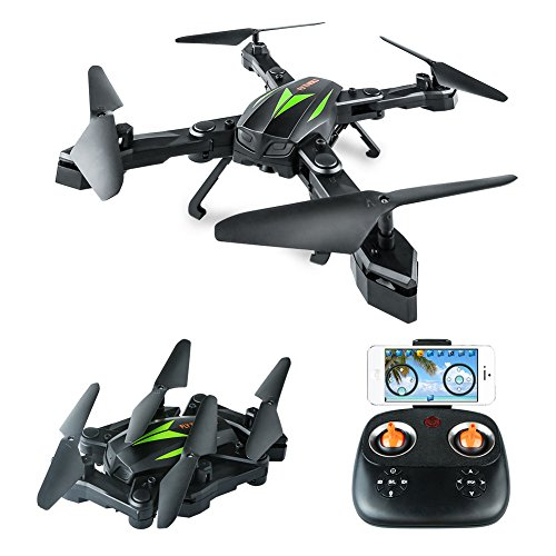 Top AKASO A200 FPV Drone with 720P HD Camera WiFi APP Live Video 6-Axis Gyro 2.4GHz Altitude Hold Foldable Arms RC Drones for Kids Beginners Adults