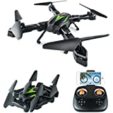 AKASO A200 WiFi Foldable Quadcopter Drone with 720P HD 2MP Camera FPV APP Live Video 6-Axis Gyro 2.4GHz One Key Return RC Drones for Kids Beginners Adults