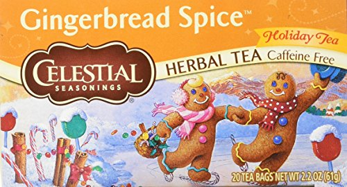- Gingerbread Spice Holiday Herb Tea - 20 bags,(Celestial Seasonings)