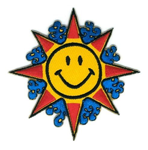 3.0 inches x 3.0 inches Smile Sunshine Day Cartoon Patch Embroidered Sew Iron on Patch Cartoon Sew Iron on Embroidered Applique Craft Handmade Baby Kid Girl Women Cloths DIY Costume (Australia Day Costumes Uk)