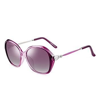 LQQAZY Modelos De Diamantes De Imitación Brillantes Gafas De Sol Polarizadas Marea De Damas Cajas Grandes
