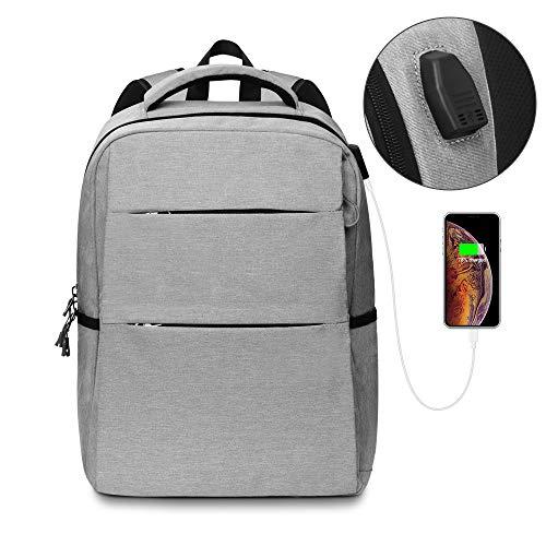 AIRSOFTPEAK Travel Laptop Backpack, Laptop Backpack 15.6 with USB Charging Port Waterproof Computer Bag Backpack for Women Men School Business