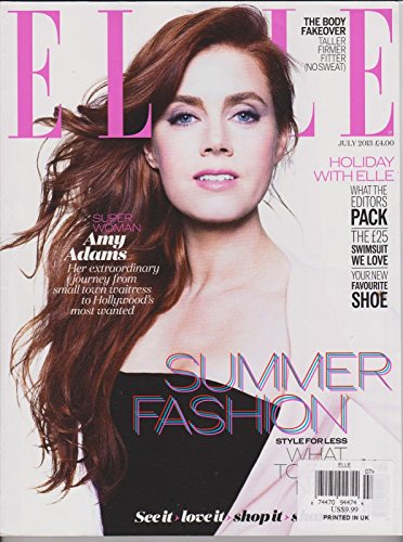 ELLE Magazine UK JULY 2013,SUPER WOMAN AMY ADAMS, SUMMER FASHION STYLE FOR - Matthew Shop Williamson