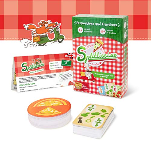 Pizza Board Games for Kids 6 and up - Proportions and Fractions Board Games for Kids and Family