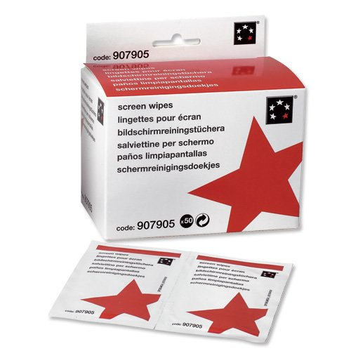 (5 Star Screen Cleaning Sachets Anti-Static Non-Hazardous [Pack of 50])