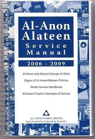 Al Anon Alateen Service Manual User Manual Guide