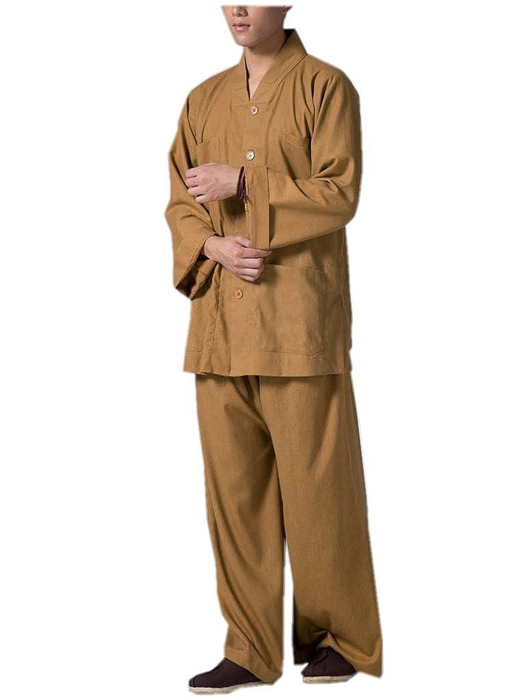 KATUO de Monje Budista Trajes Religión V-Neck Tradicionales ...