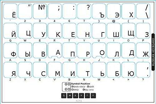 40 opinioni per Adesivi russo trasparenti per Tastiere con lettere in NERO- Adatto a qualsiasi