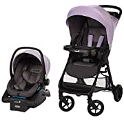 Safety 1st Smooth Ride Travel System with onBoard 35 Infant Car Seat, Wisteria Lane