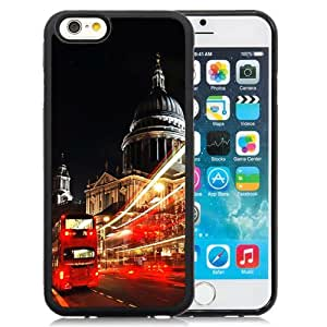 NEW Unique Custom Designed iPhone 6 4.7 Inch TPU Phone Case With London St Paul Cathedral Double Decker_Black Phone Case